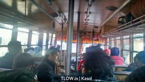 in the local bus to kasol