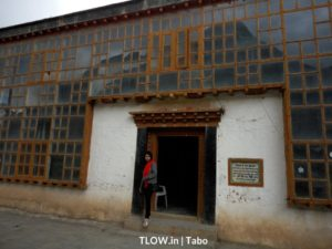 enterance to the monestary guest house tabo