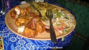 king fish thikka at half moon beach