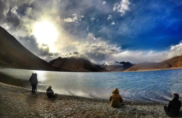 Pangong sunset