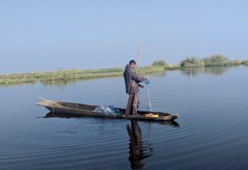 Fisher man at Loktak